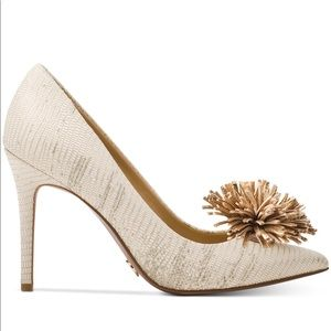 896c5e849137 Michael Kors Shoes - Michael Kors Lolita pump metallic embossed leather